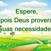 Deus conhece suas necessidades