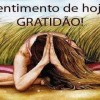 Hoje vou abraçar a gratidão